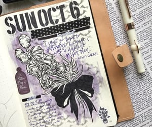 art, october, and october bullet journal image