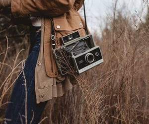aesthetic, camera, and brown image