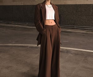 blazer, brown, and pants image