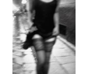 black, girl, and monochrome image