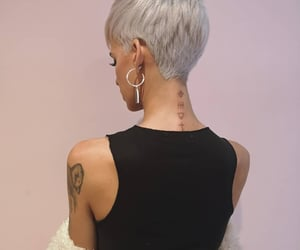 blonde, pixie, and short hair image