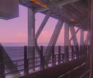 aesthetic, bridge, and ocean image