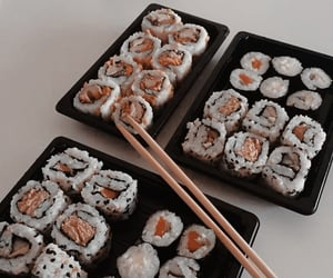 sushi, aesthetic, and colors image