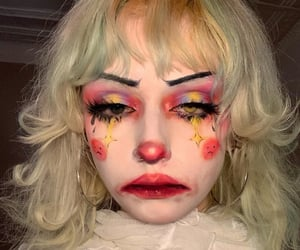 aesthetic, clown, and creepy image