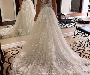 bridal gown, wedding, and wedding dresses image