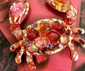 brooch, crab, and jewelry image