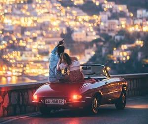 Amalfi coast, city lights, and romance image
