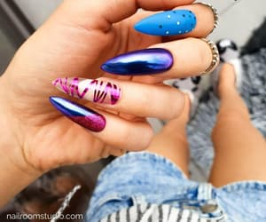etsy, negative space, and holographic nails image