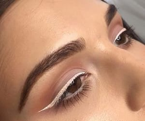 makeup, eyeliner, and beauty image