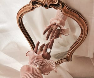 mirror, gold, and pink image