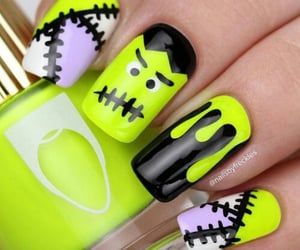 nails, Frankenstein, and green image