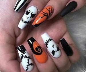 Halloween, nails, and nail art image