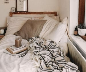 autumn, bedrooms, and blankets image