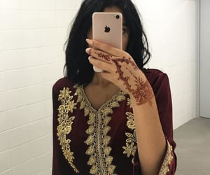 dress, hair, and iphone image