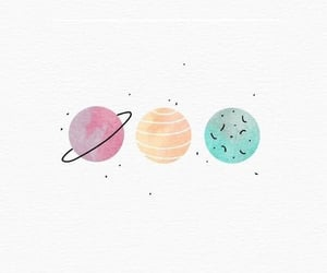 background, universe, and planets image