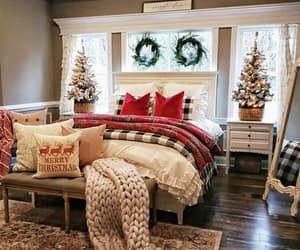 christmas, bedroom, and holiday image