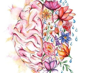 art, brain, and drawing image