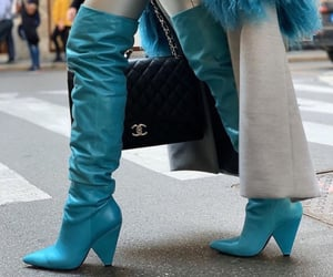 blue, boots, and clothing image