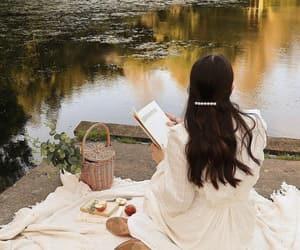 aesthetics, lake, and book books image