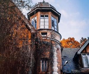 autumn, house, and strange image