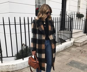bag, coat, and jeans image