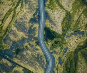 drive, road, and green image