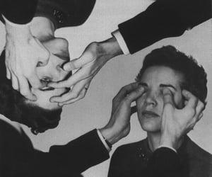 black and white, boy, and eyes image