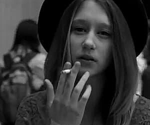 cigarette, girl, and gif image