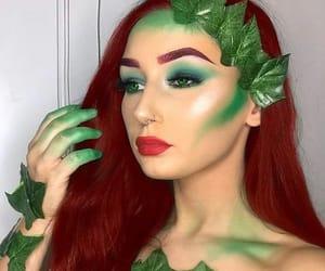 green, Halloween, and makeup image