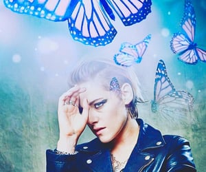 actress, butterflies, and edit image