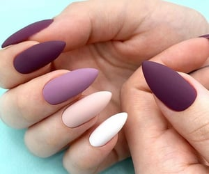 beige, nails, and purple image