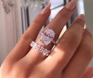 ring, diamond, and nails image