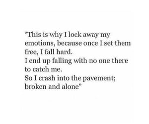 quotes, broken, and alone image