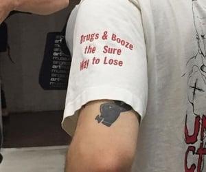 grunge, tattoo, and drugs image