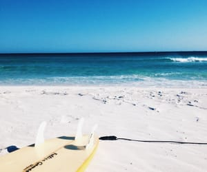 beach, summer, and sunshine image