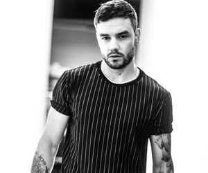 liam payne and black and white image