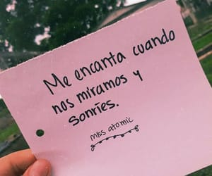 ​amor, sonrisa, and frases image