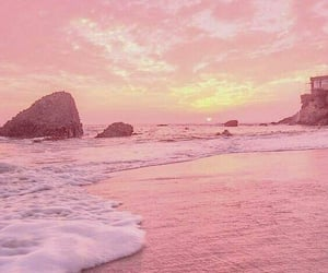 nature, pink, and sea image
