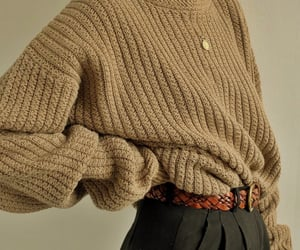 beige, nails, and sweater image
