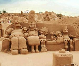 simpsons, art, and sand image