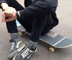 grunge, skateboard, and boy image