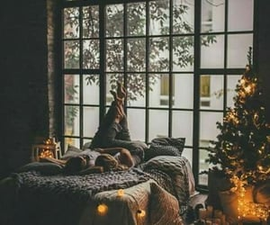 bedroom, season, and winter image