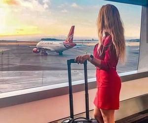 aviation, Dream, and flight attendant image