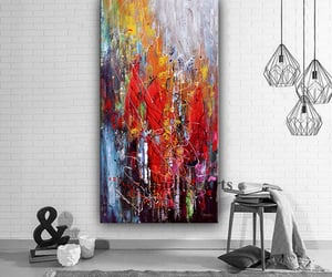 Abstract Painting, Jackson Pollock, and office decor image
