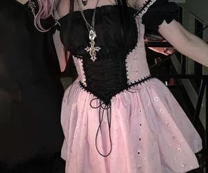goth, aesthetic, and dress image