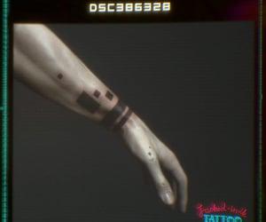 arm, bars, and tattoo image