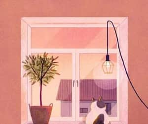 cat, gato, and ilustraciones image
