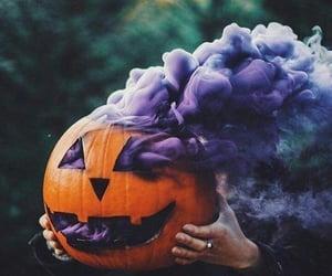 Halloween, pumpkin, and purple image
