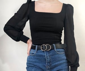 aesthetic, belt, and black image