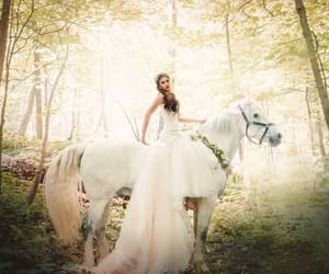 forest, princess, and wedding image